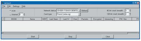 Инструмент для пассивной атаки - AirSnort