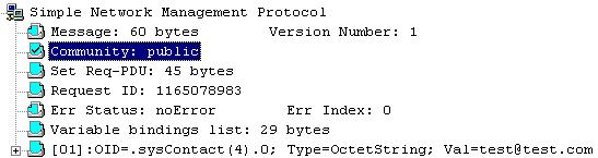 пакет был отловлен сниффером NetXRay на сетевом интерфейсе агента